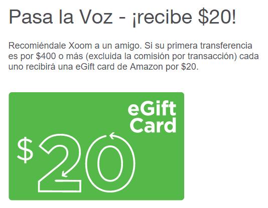 Ganemos los 2 un certificado de regalo con 20 dolares de Amazon