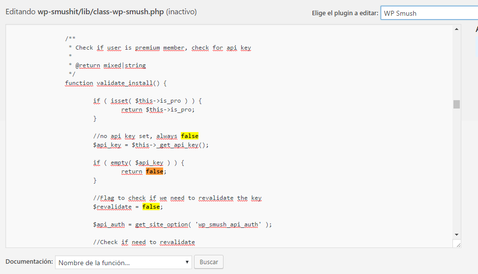WP smush API false