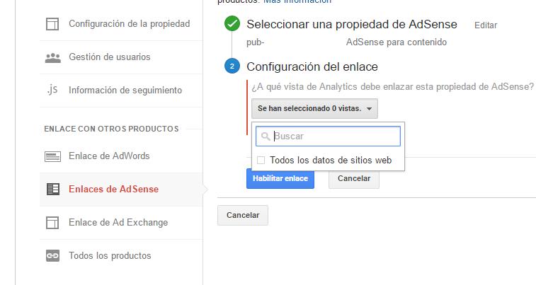 5. Ultimos pasos en la Configuración de Analytics y Google Adsense