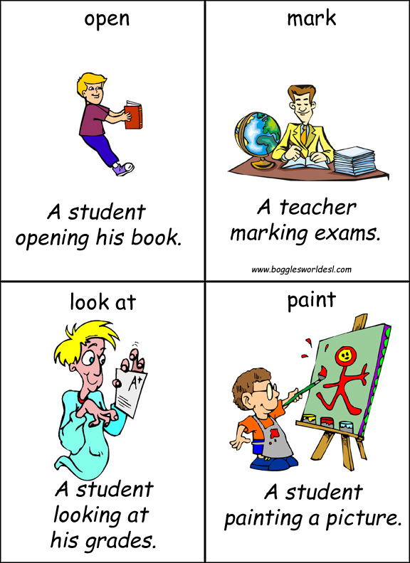 Flash cards de frases de Ingles