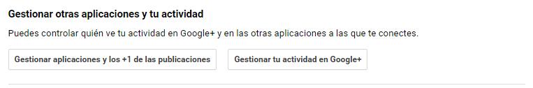 Gestión de aplicaciones en Google+
