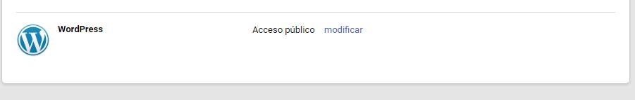 Aplicación de WordPress en perfil de Google+
