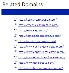 4. Related Domains List