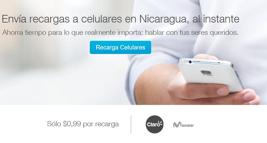 Recargas electronicas a 0.99 dolares por transacción a cualquier compañia