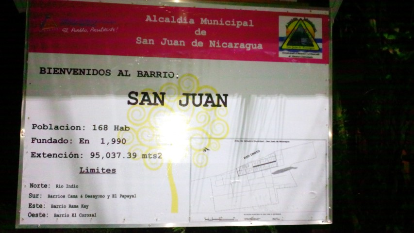 Rotulo San Juan de Nicaragua