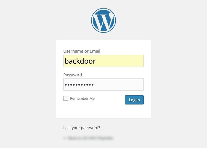 Como crear un BackDoor en WordPress