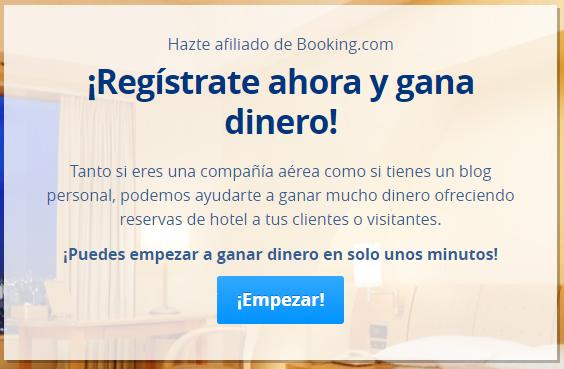 Registro de Blog con Booking.com