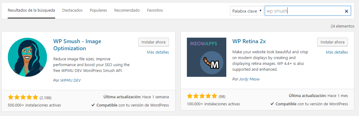WP Smush en Repositorio de WorPress