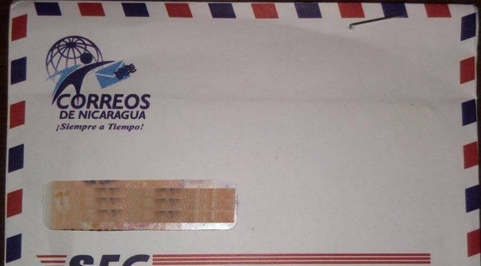 Parte Frontal Licencia Correo de Nicaragua