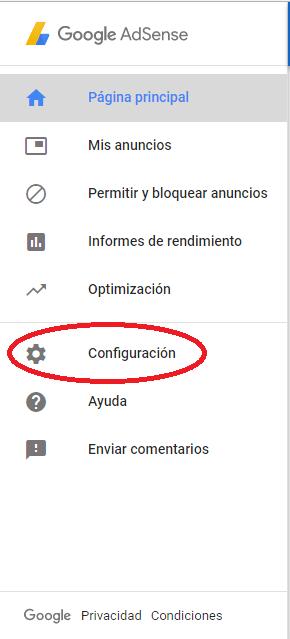 1. Ir a Configuración