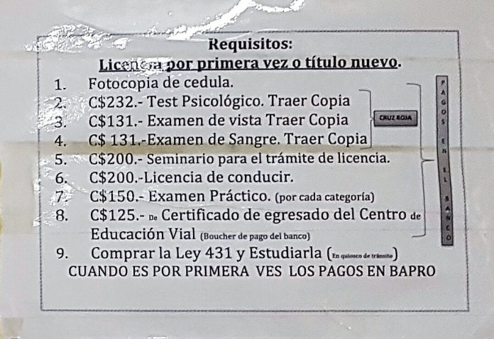 Requisitos Licencia de Conducir Nueva